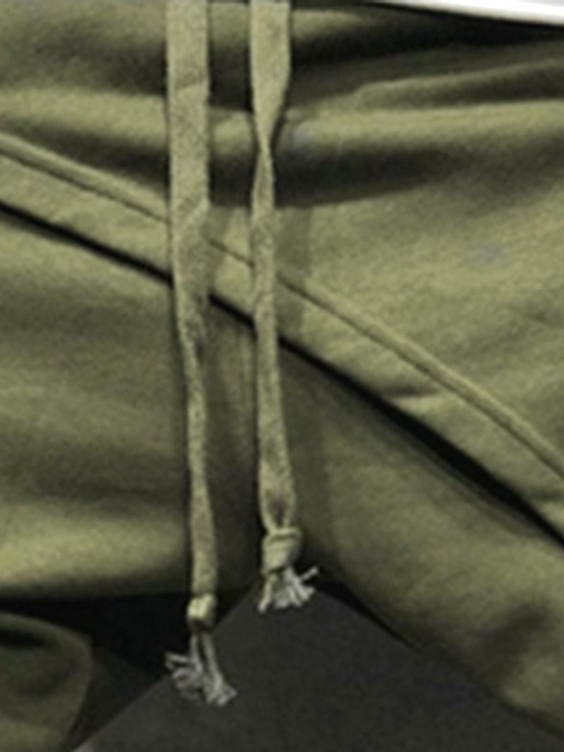 Ericdress Asymmetric Plain Casual Lace-Up Men's Casual Pants