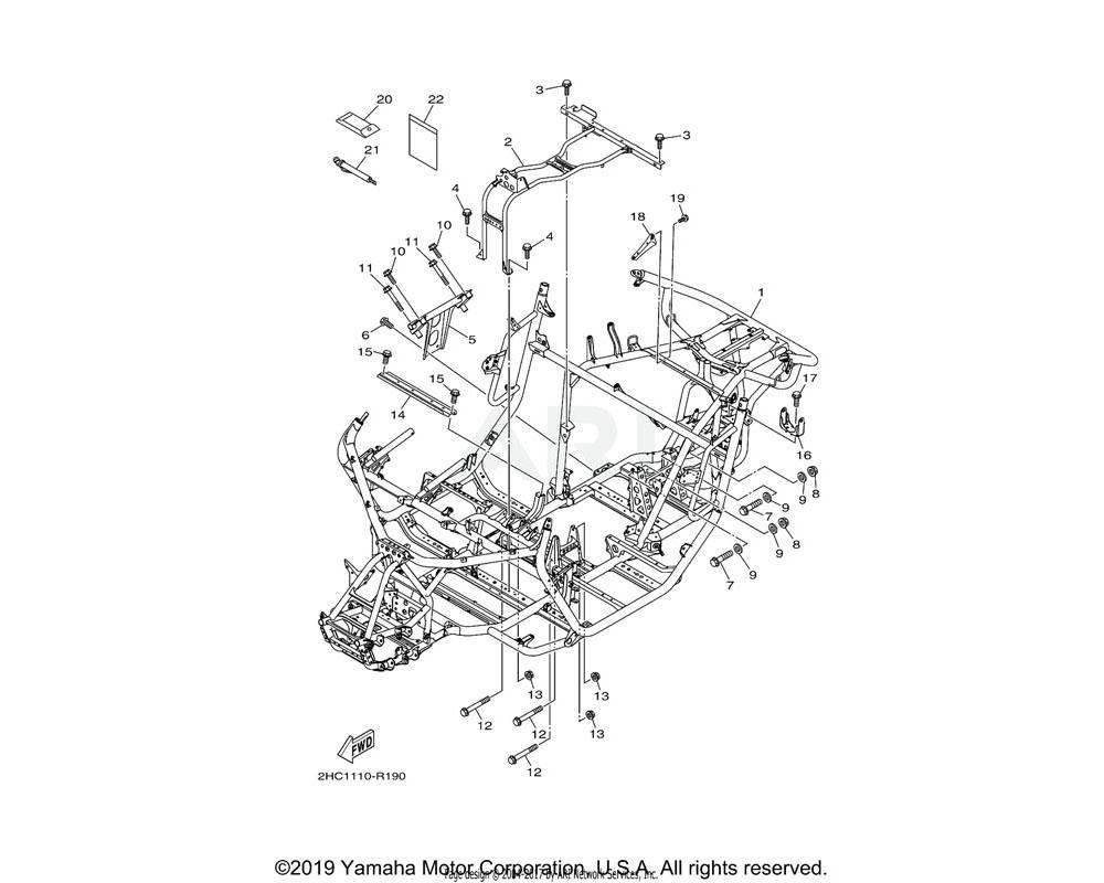 Yamaha OEM 2HC-F110A-20-00 ENG. MOUNT COMP. | UR FOR DPBSE
