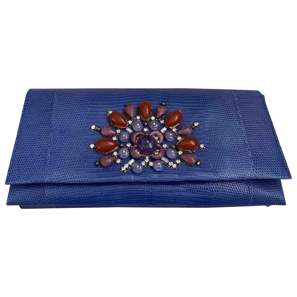 Bvlgari \N Blue Lizard Clutch bag for Women \N