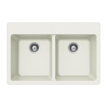 M-200 CLOUD Quartztone Series Granite Topmount 50/50 Double Bowl Kitchen Sink