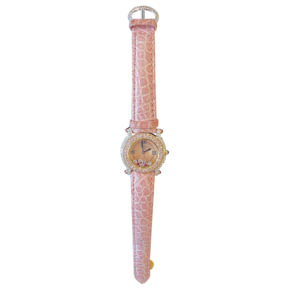 Chopard Happy Sport Pink Pink gold watch for Women N