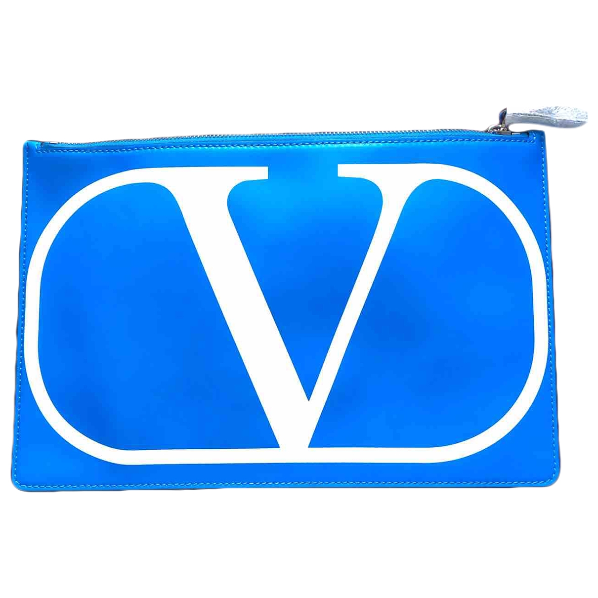 Valentino Garavani Vring Turquoise Leather Clutch bag for Women \N