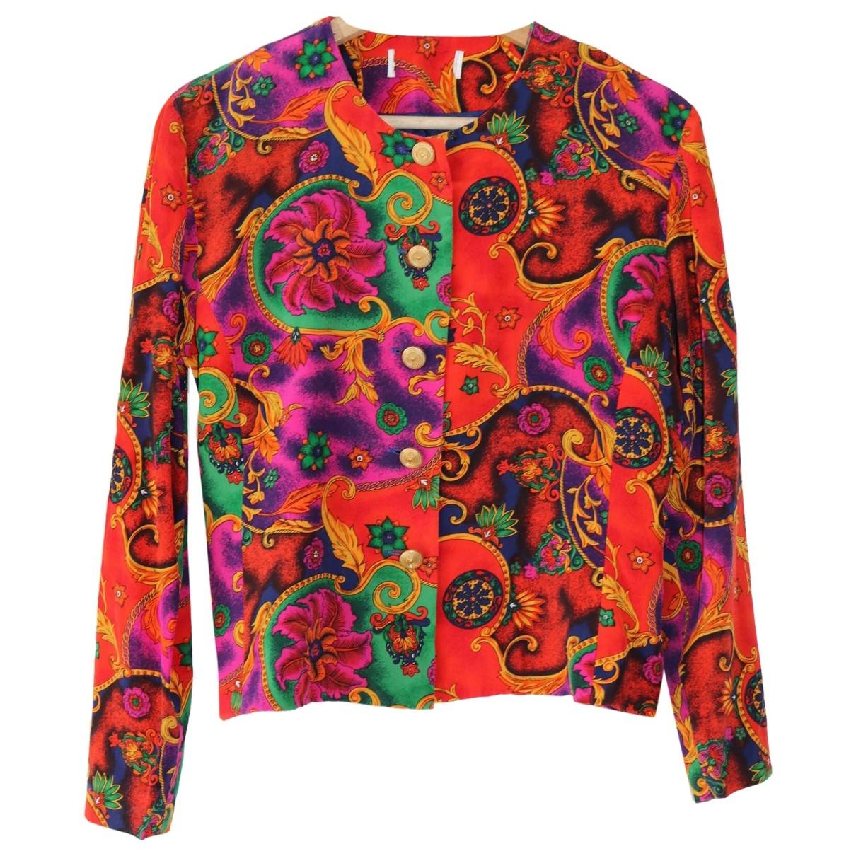 - Veste Hippie Chic pour femme en soie - multicolore
