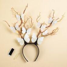 Branch & Butterfly Decor Hair Hoop