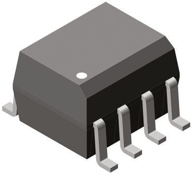 Vishay , VOD205T DC Input Transistor Output Dual Optocoupler, Surface Mount, 8-Pin SOIC (10)