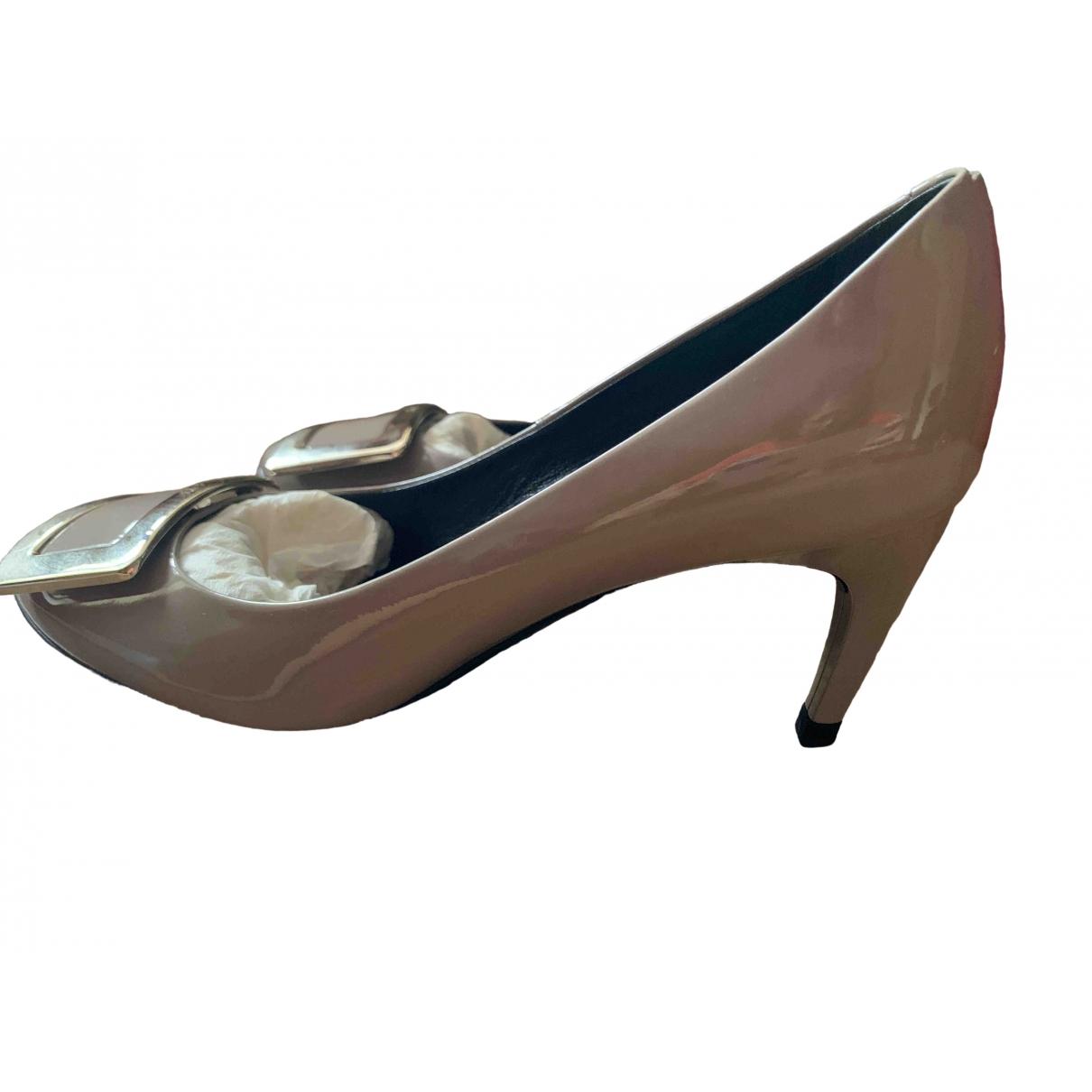 Roger Vivier Belle de Nuit Grey Patent leather Heels for Women 36 EU