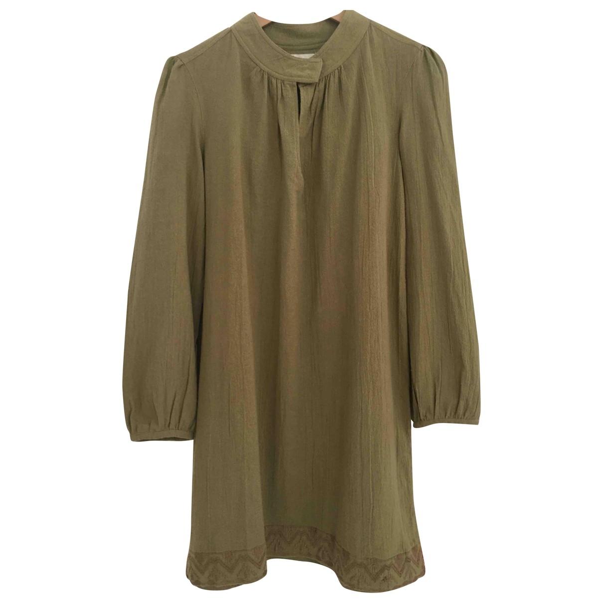 Polder \N Kleid in  Gruen Baumwolle