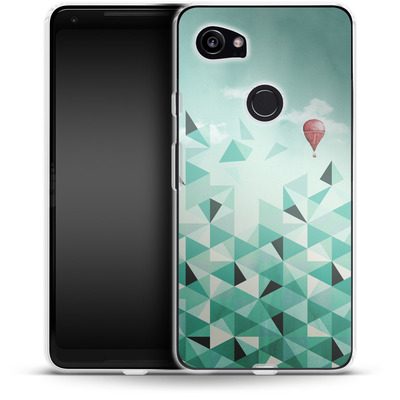 Google Pixel 2 XL Silikon Handyhuelle - Emerald City von Little Clyde