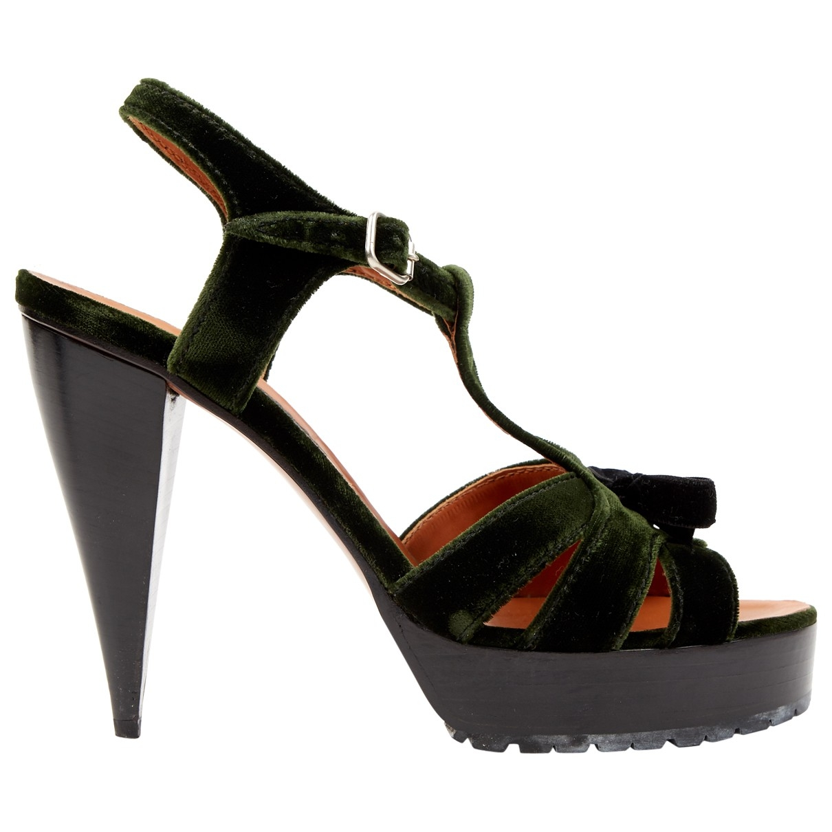 Lanvin \N Green Velvet Heels for Women 40 EU