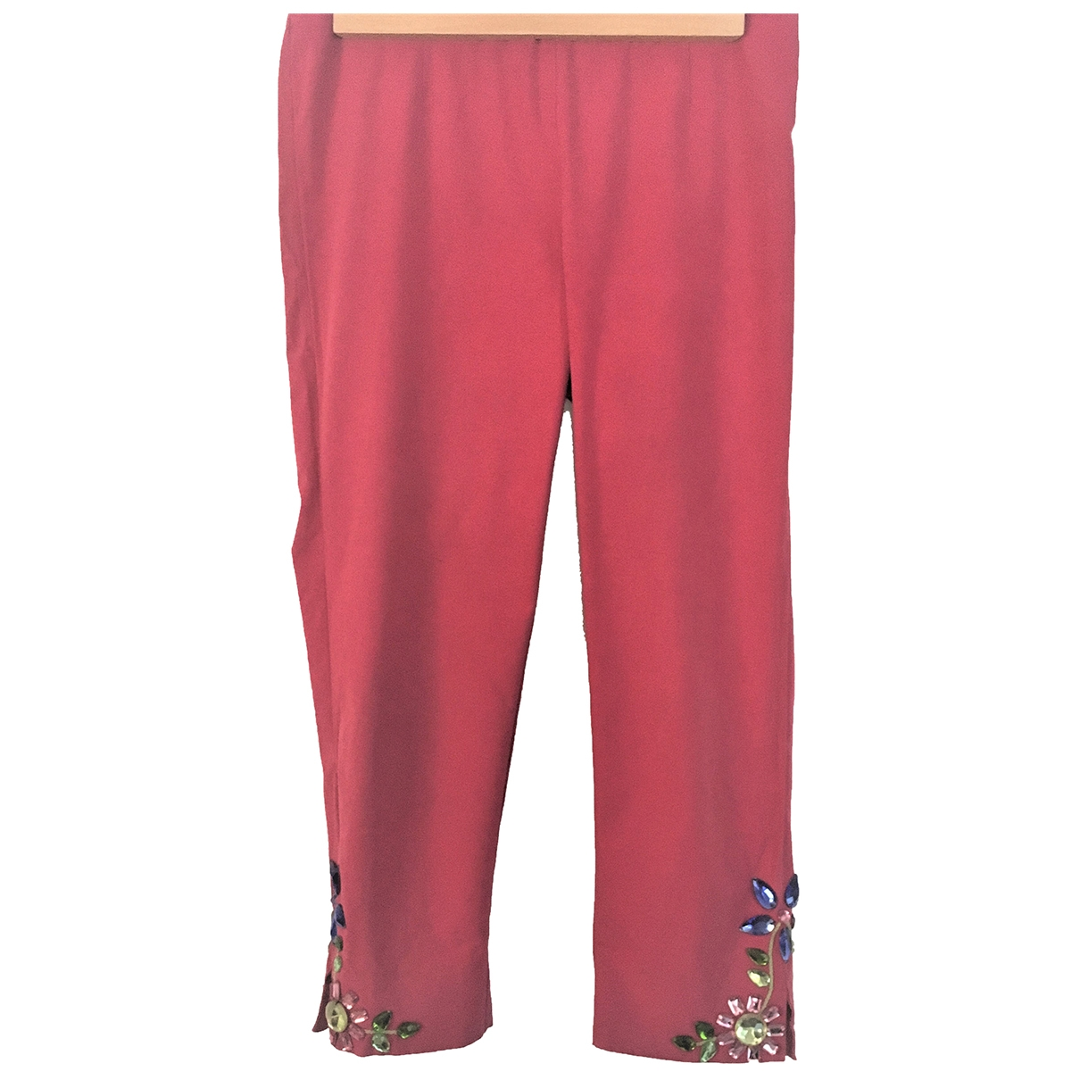 Moschino Cheap And Chic \N Pink Cotton Trousers for Women 44 IT