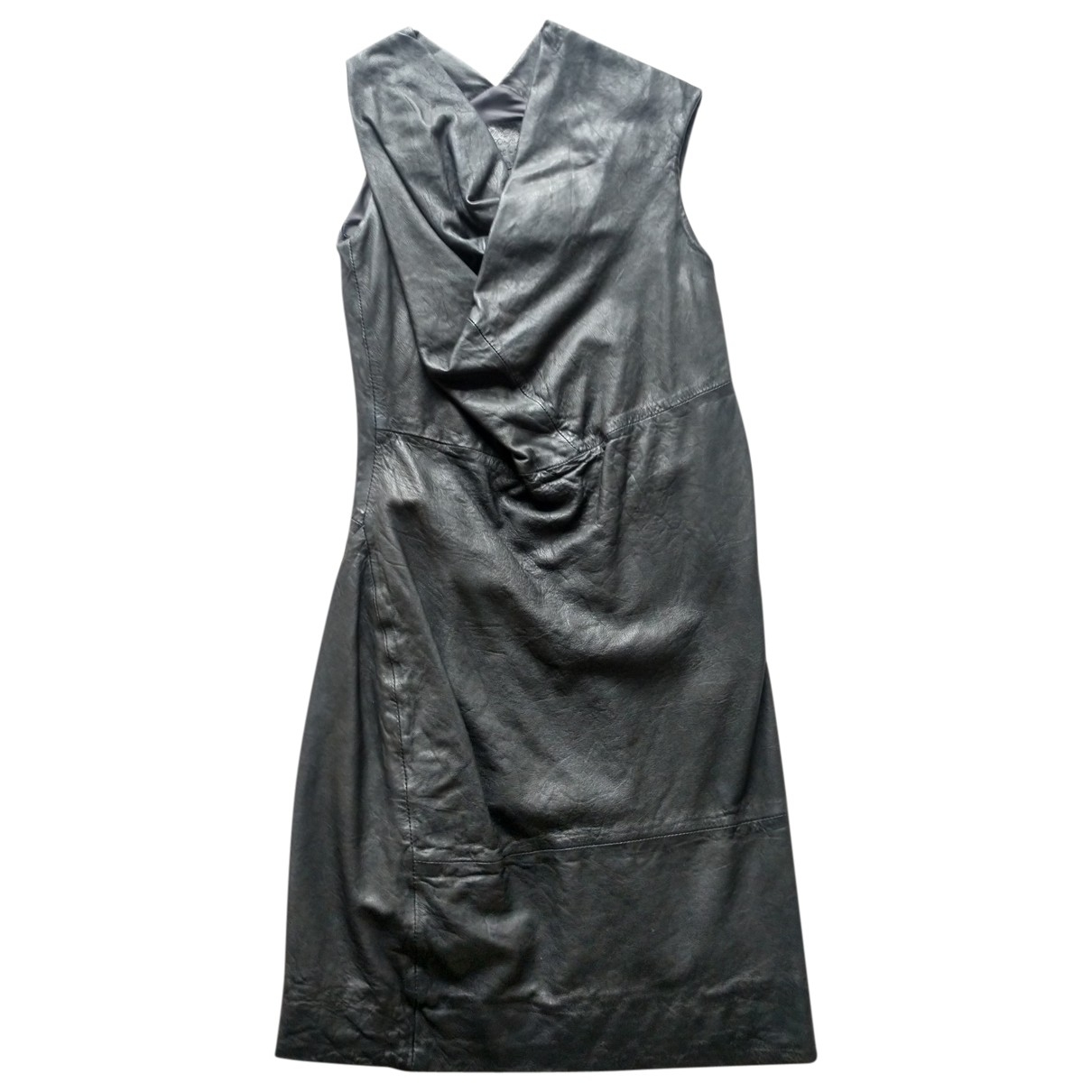 All Saints \N Black Leather dress for Women 6 UK