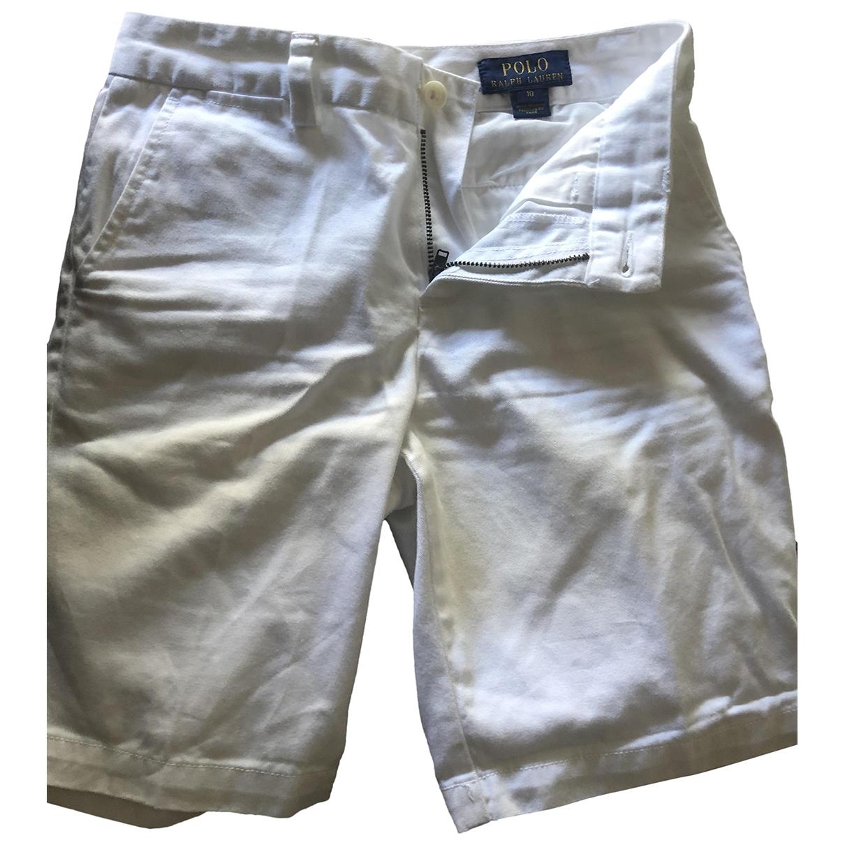 Polo Ralph Lauren - Short   pour enfant en coton - blanc