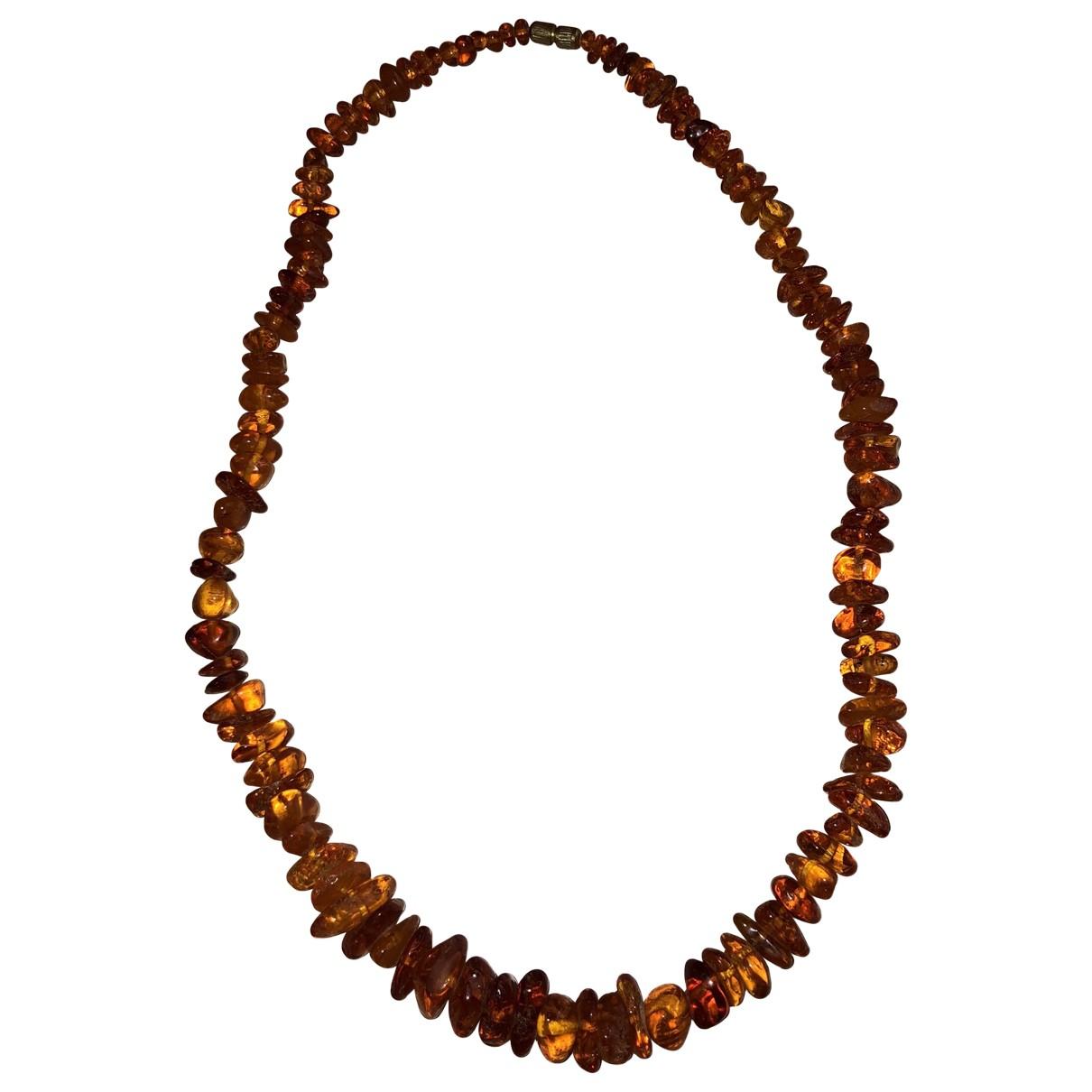 - Collier Ambre pour femme en cristal - orange