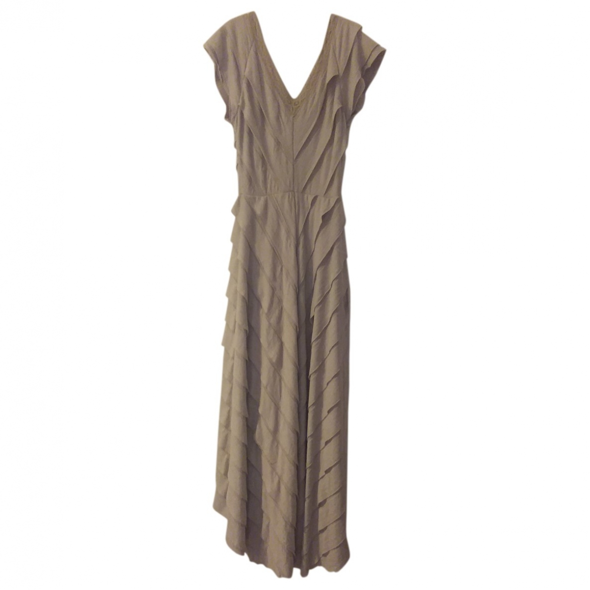 Free People \N Grey Cotton - elasthane dress for Women XS International