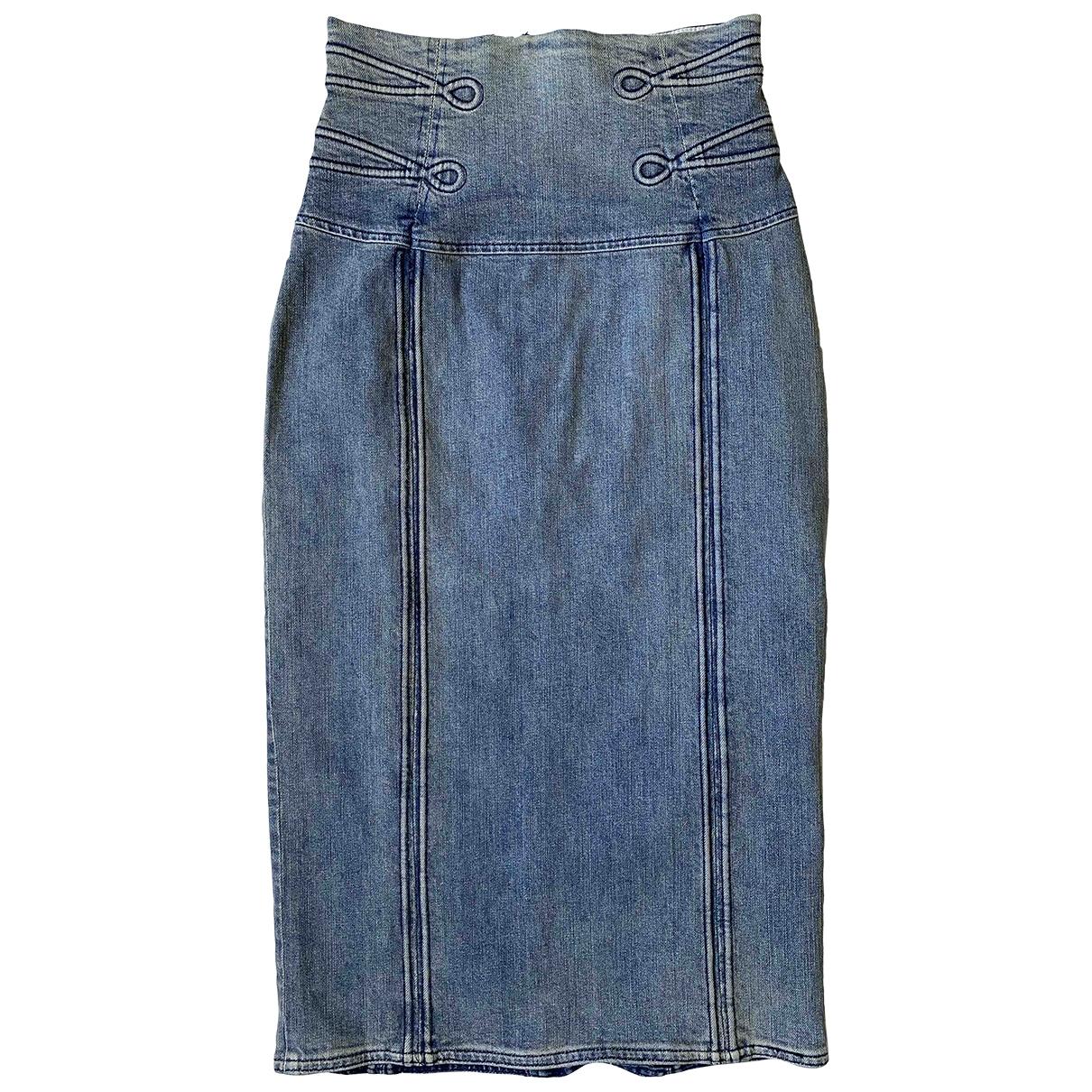 Mcq - Jupe   pour femme en coton - elasthane - bleu