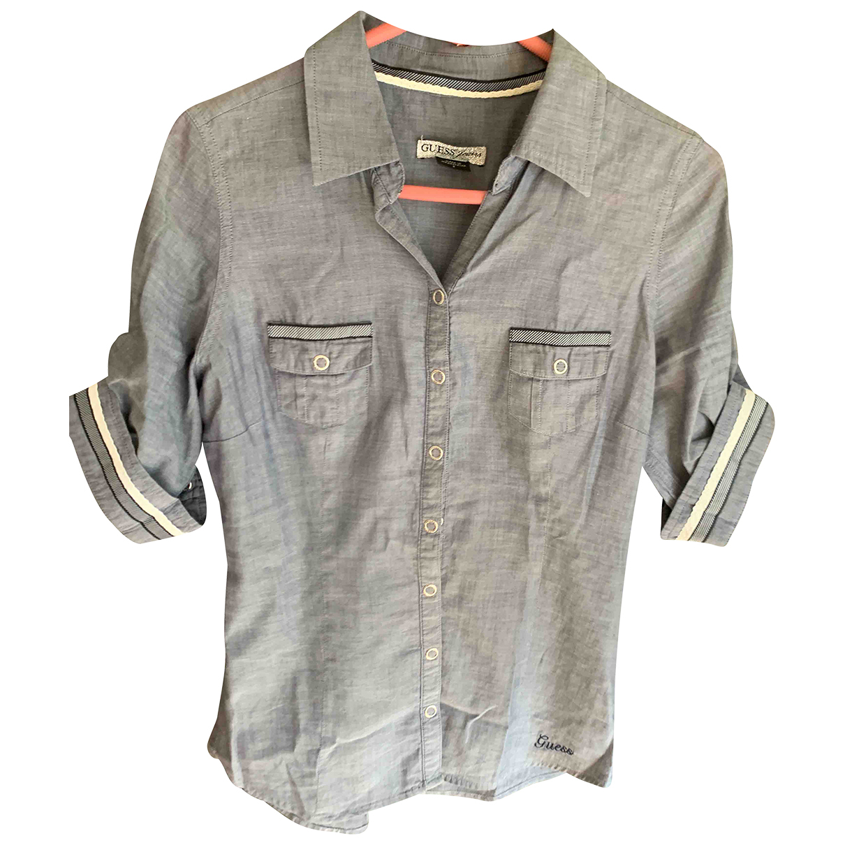 Guess N Grey Cotton  top for Women S International