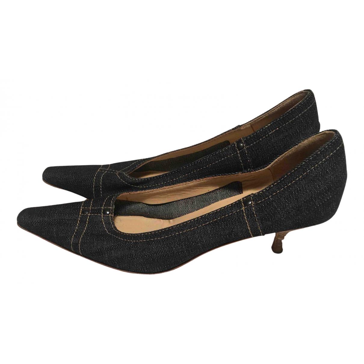 Miu Miu N Blue Cloth Heels for Women 38 EU