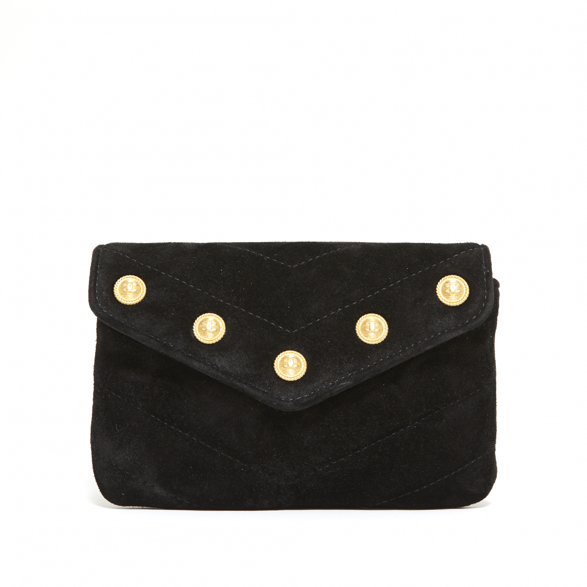 Chanel \N Clutch in  Schwarz Veloursleder