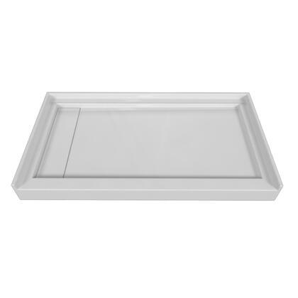 SBLDST-5430-L-BLK Single Threshold Black Acrylic Left Hand Linear Drain  Shower Base