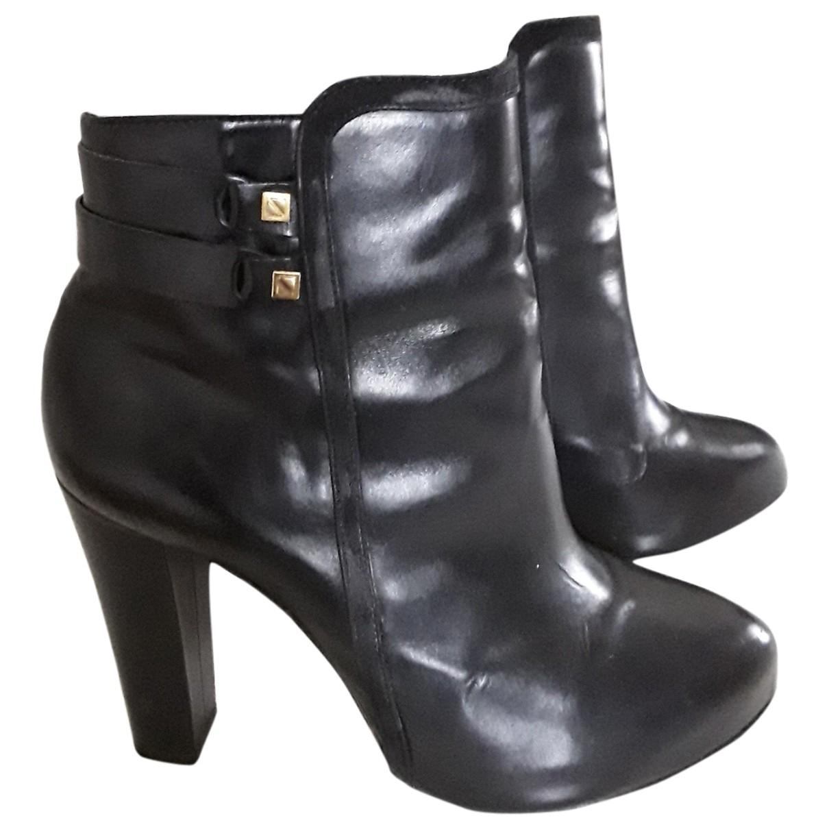 Kat Maconie - Boots   pour femme en cuir - noir