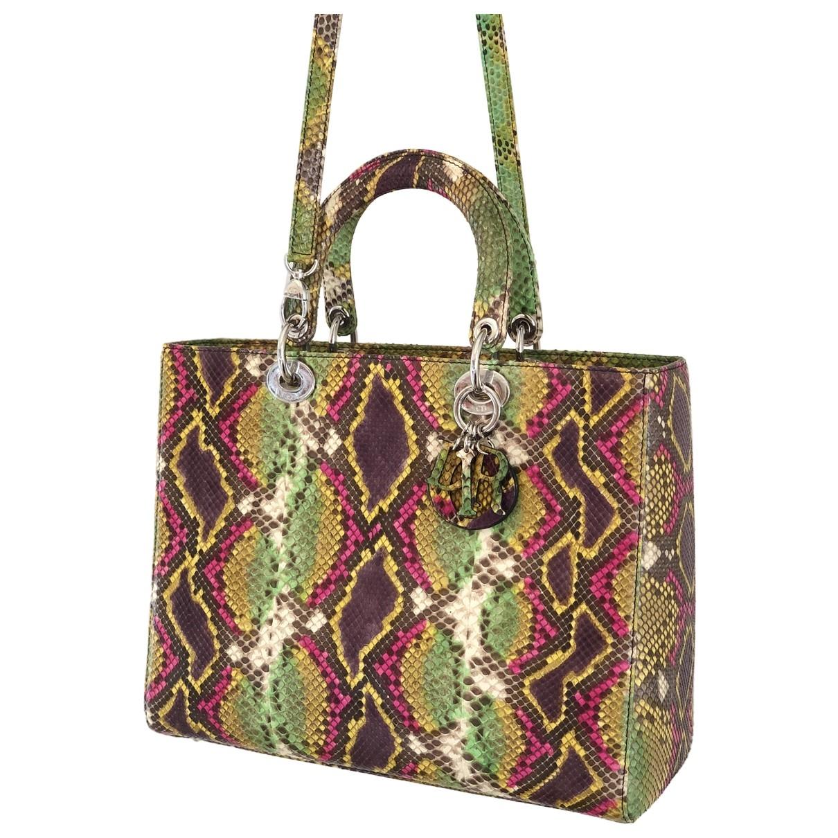 Dior - Sac a main Lady Dior pour femme en python - multicolore
