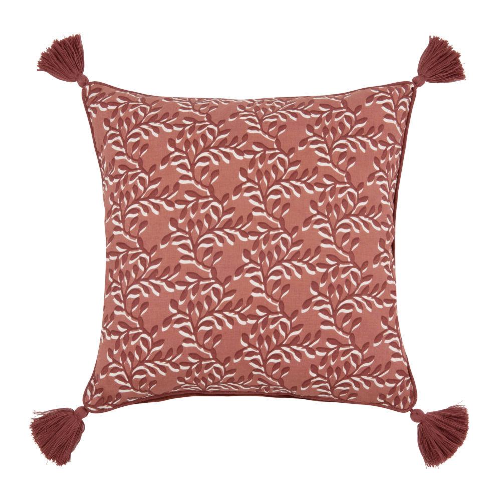 Kissenbezug aus Baumwolle mit Motiven, rot 40x40