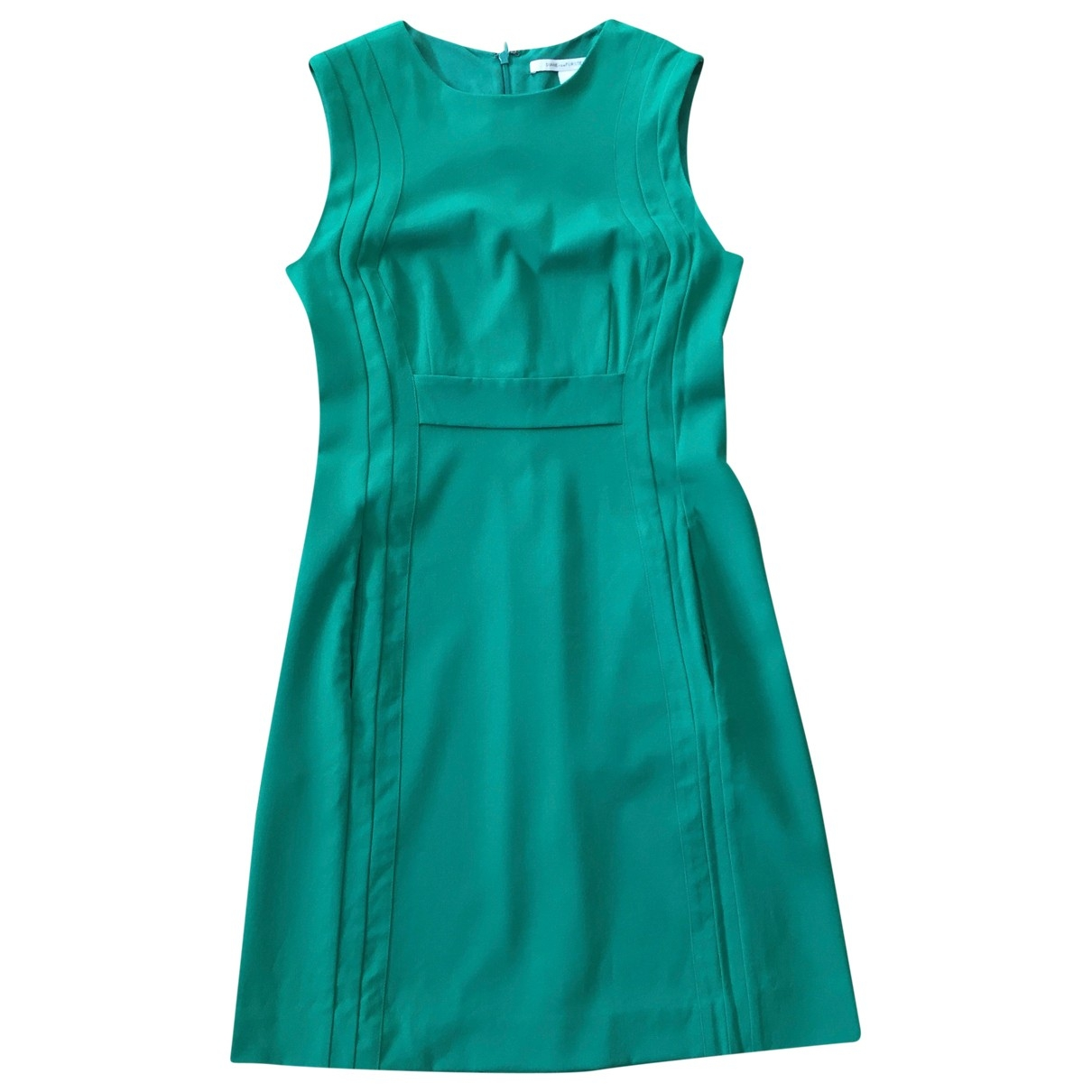 Diane Von Furstenberg \N Green Wool dress for Women 6 US