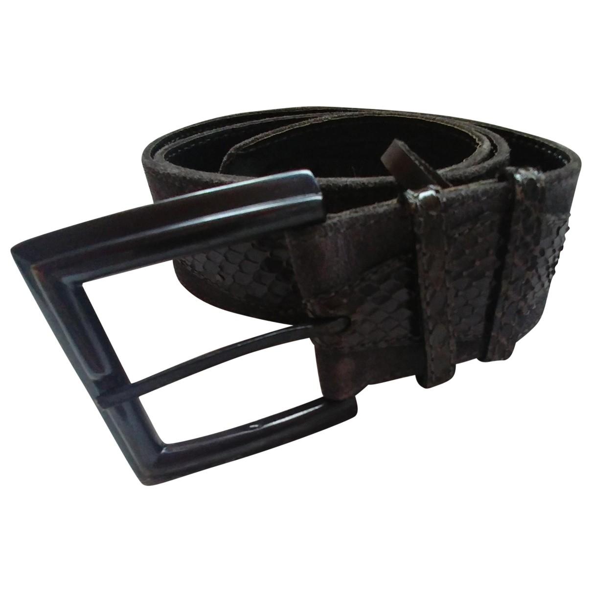 Yves Saint Laurent \N Khaki Leather belt for Women 70 cm