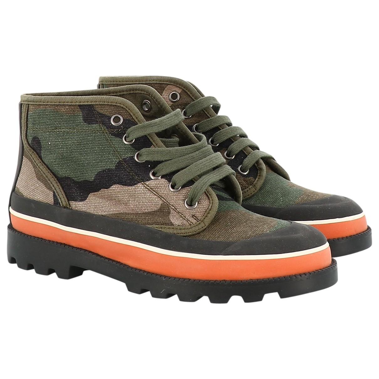 Valentino Garavani - Boots   pour femme en toile - kaki