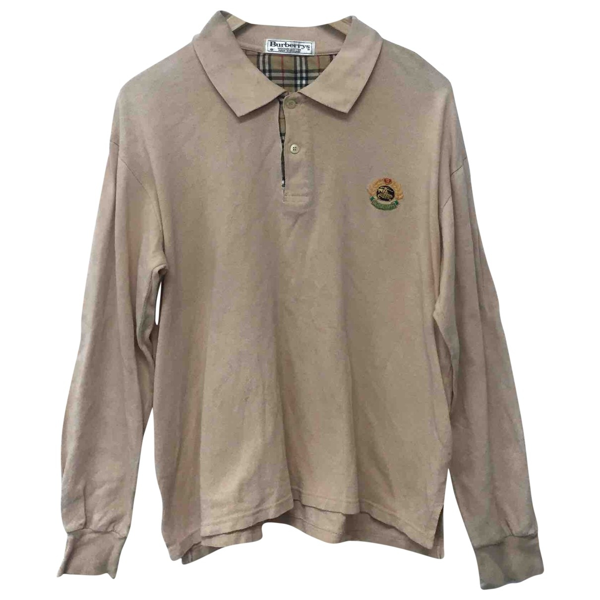 Burberry \N Beige Cotton Polo shirts for Men S International