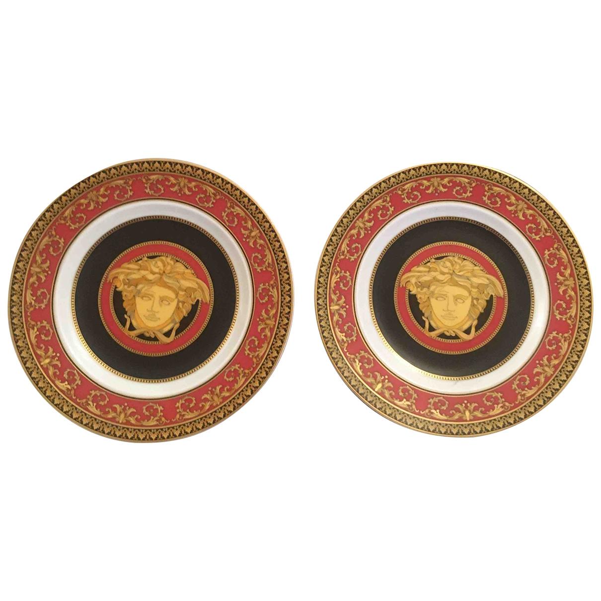 Versace \N Tischkultur in  Rot Porzellan