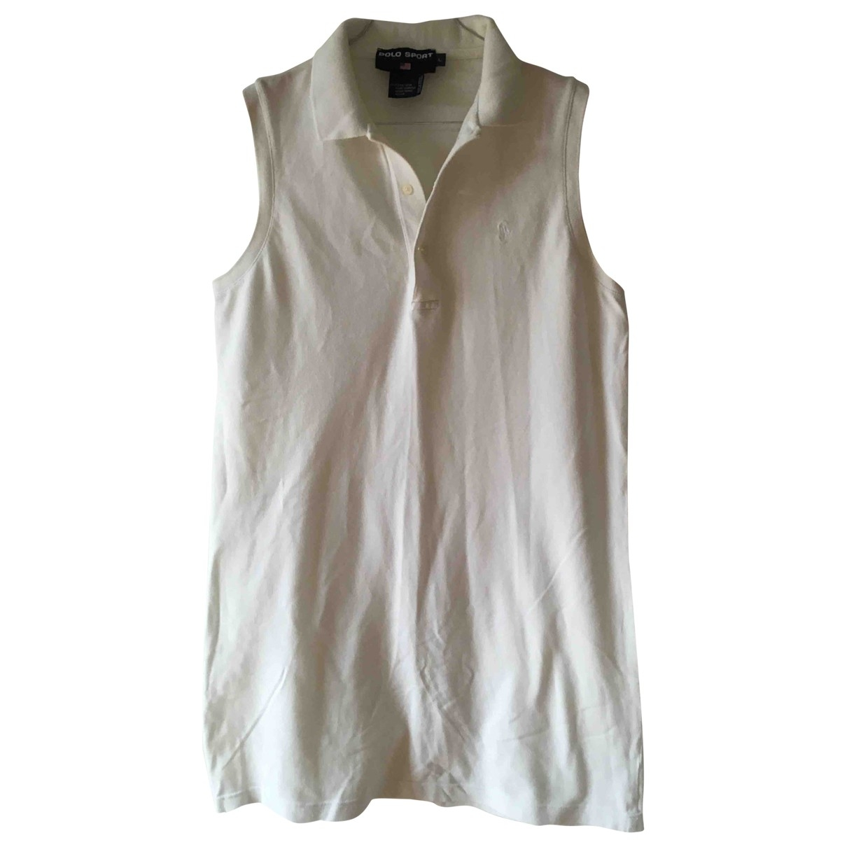 Polo Ralph Lauren \N White Cotton dress for Women L International