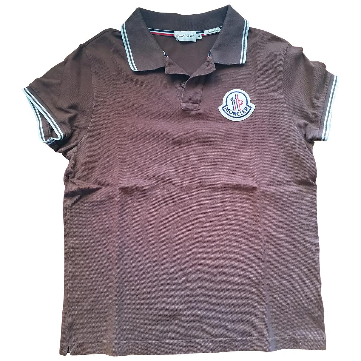 Moncler \N Poloshirts in  Braun Baumwolle