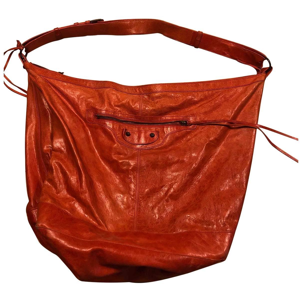 Balenciaga Courier XL Orange Leather handbag for Women \N