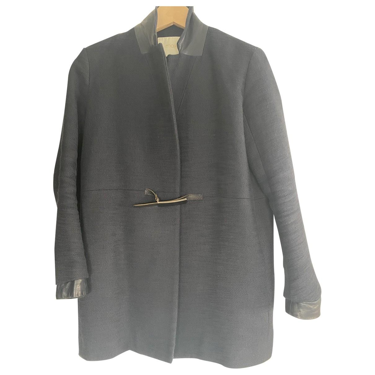 Maje \N Navy Wool coat for Women 8 UK