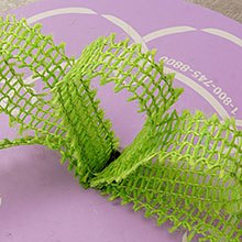 Mesh Lime Wired Burlap Ribbon - 7/8 X 25yd - Embellishments & Trims by Paper Mart