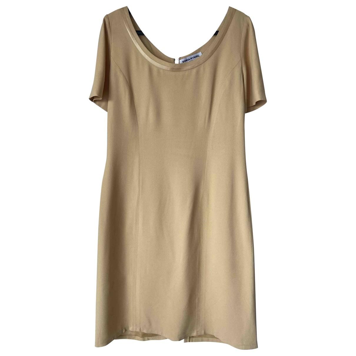Sonia Rykiel \N Kleid in  Gelb Synthetik
