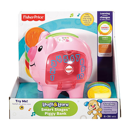 Fisher-Price Laugh & Learn Smart Stages Piggy Bank, One Size , No Color Family