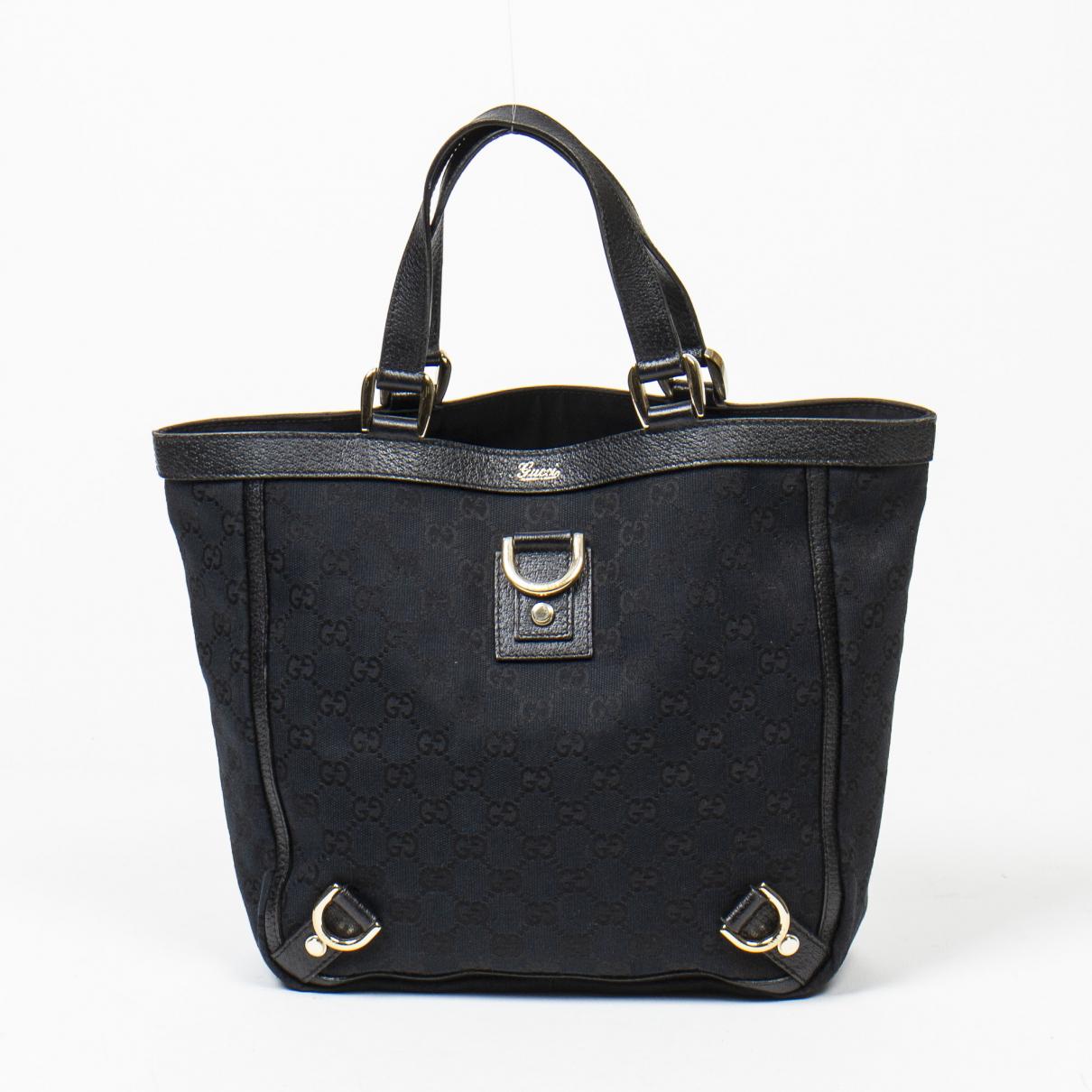 Gucci - Sac a main   pour femme en coton - noir