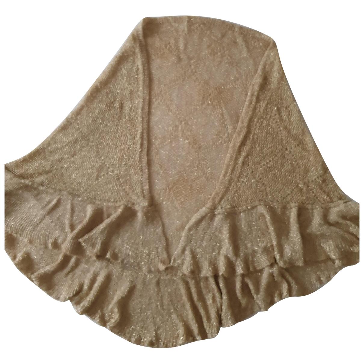 Non Signe / Unsigned \N Schal in  Gold Baumwolle