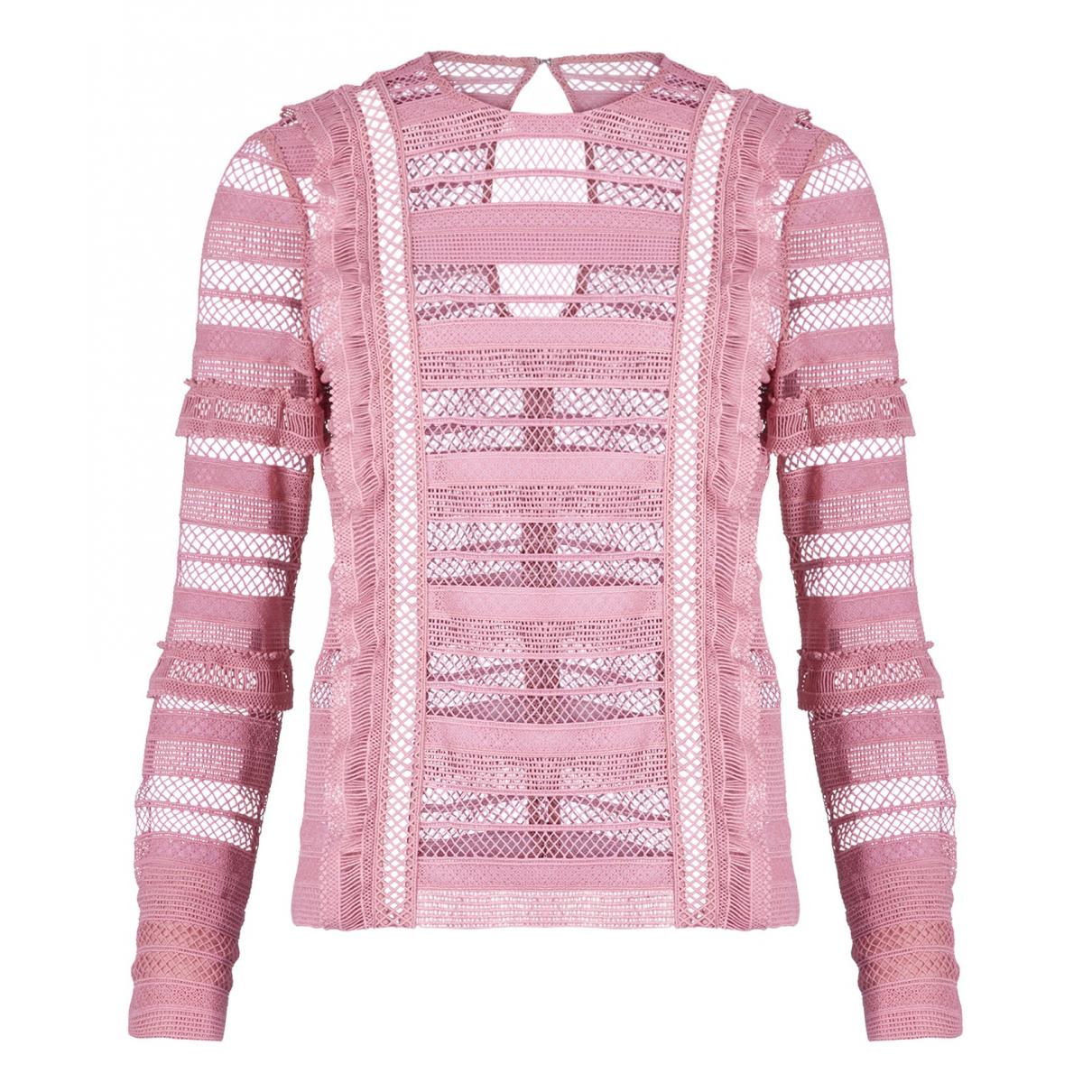 Self Portrait - Top   pour femme en coton - rose