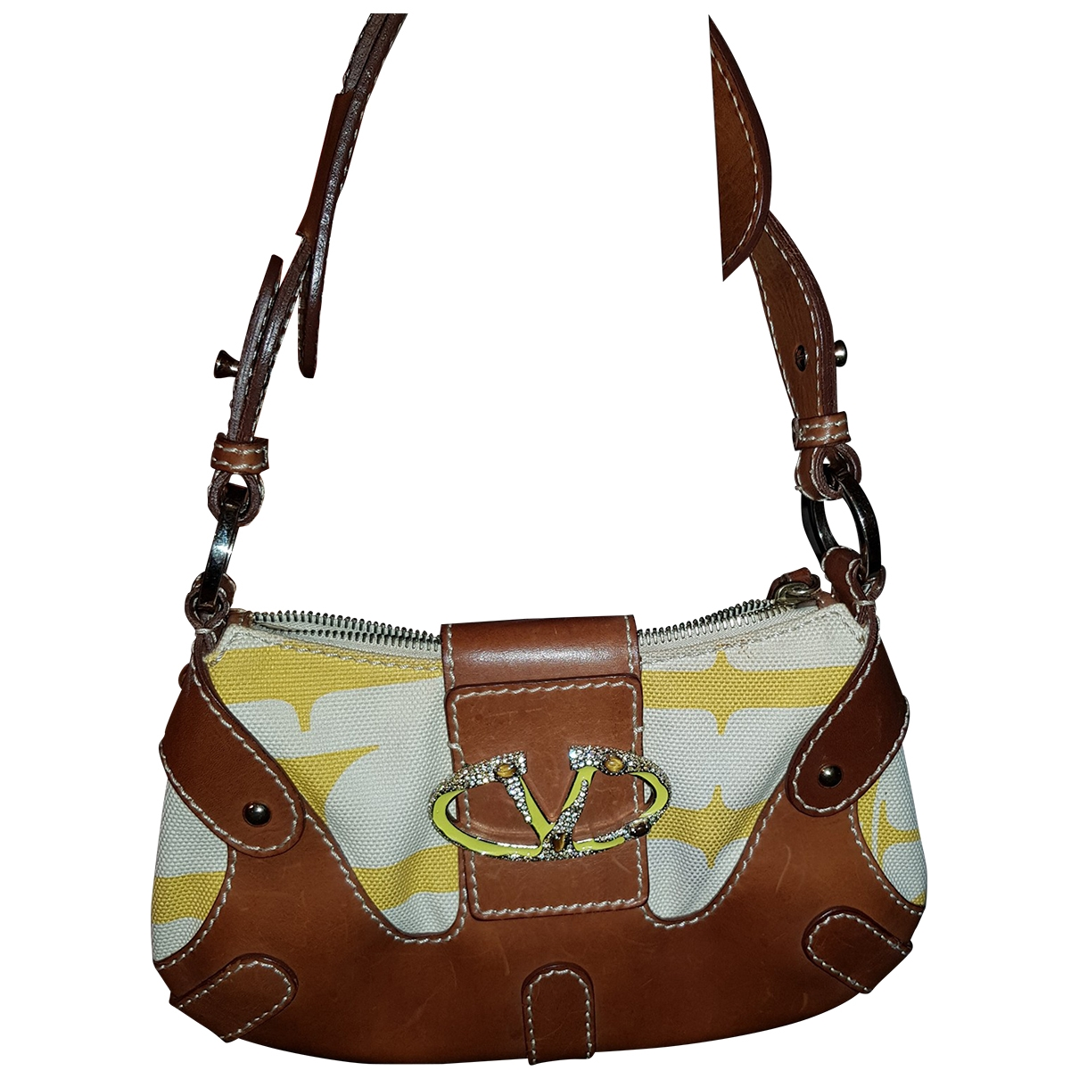 Valentino Garavani \N Camel Cloth handbag for Women \N