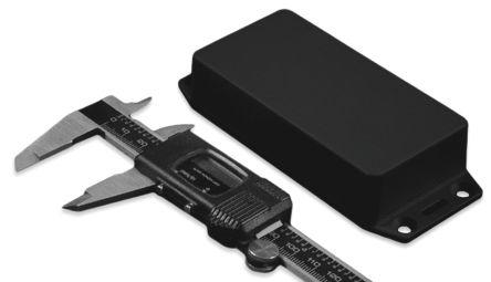 Hammond 1591, Black ABS Enclosure, IP54, Flanged, 100.9 x 51.4 x 22.25mm