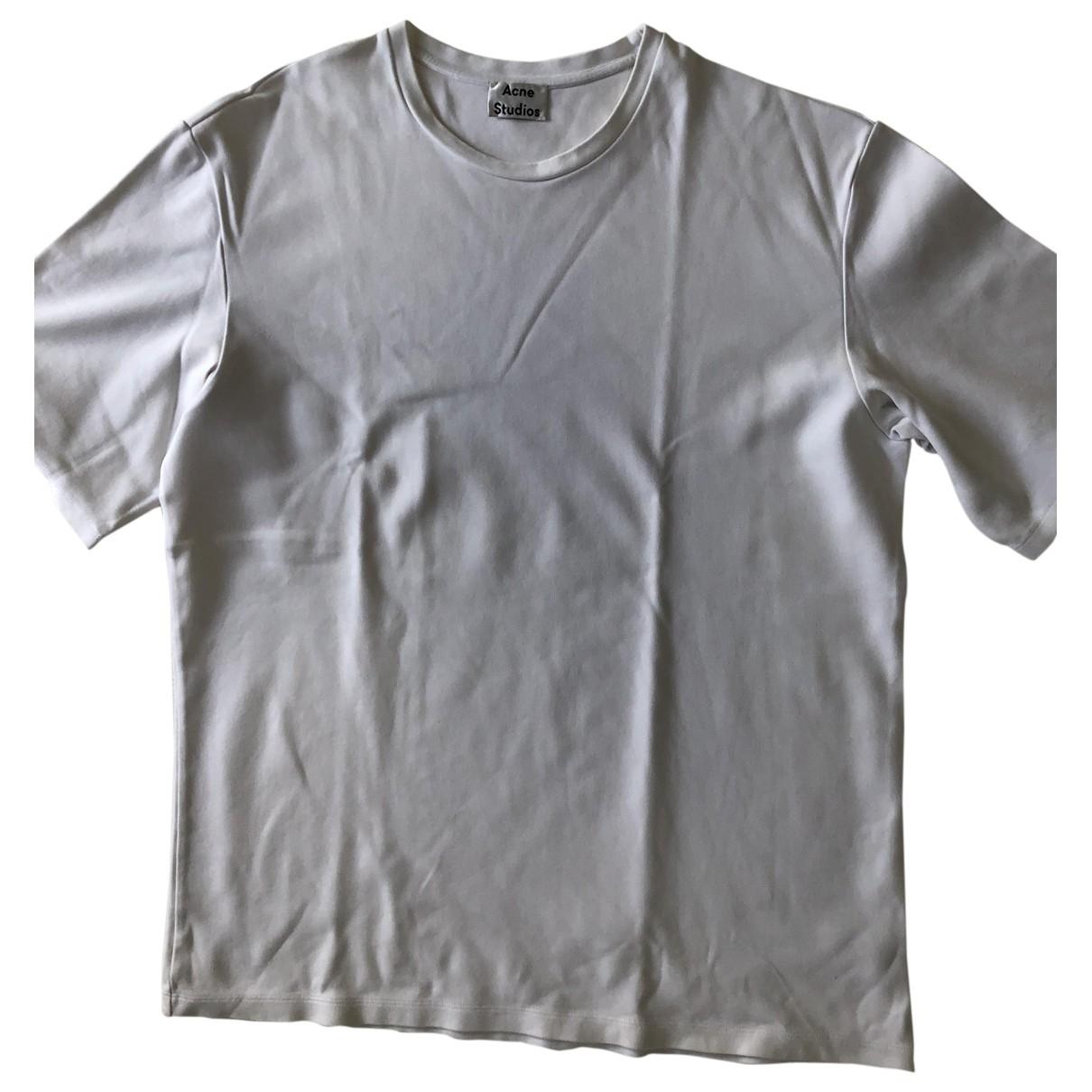 Acne Studios - Tee shirts   pour homme en coton - blanc