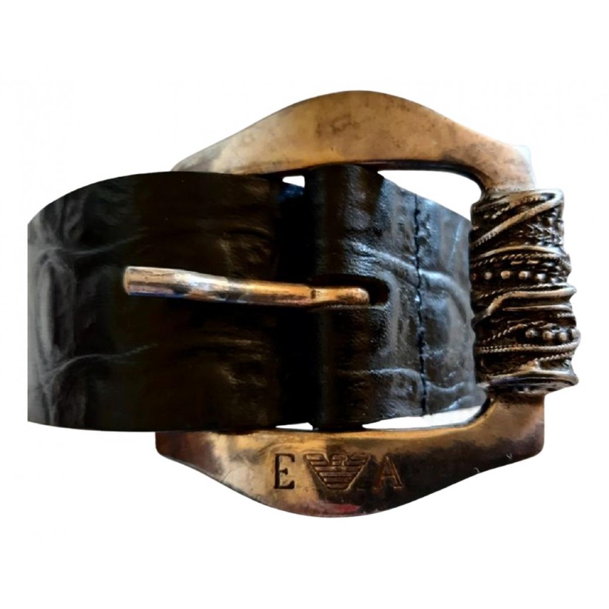 Emporio Armani \N Black Leather belt for Women M International