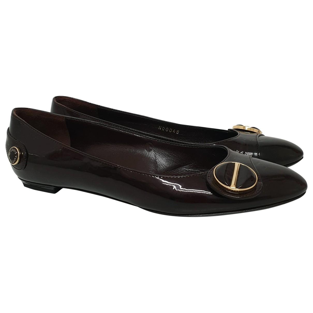 Louis Vuitton - Ballerines   pour femme en cuir verni - bordeaux