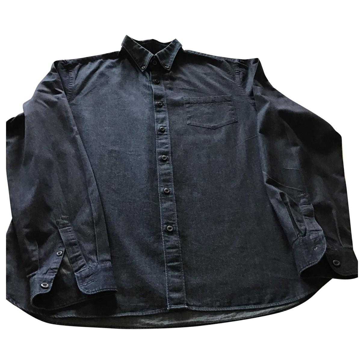 Prada \N Navy Cotton Shirts for Men 42 EU (tour de cou / collar)