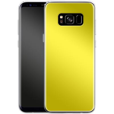 Samsung Galaxy S8 Silikon Handyhuelle - Test Yellow von caseable Designs