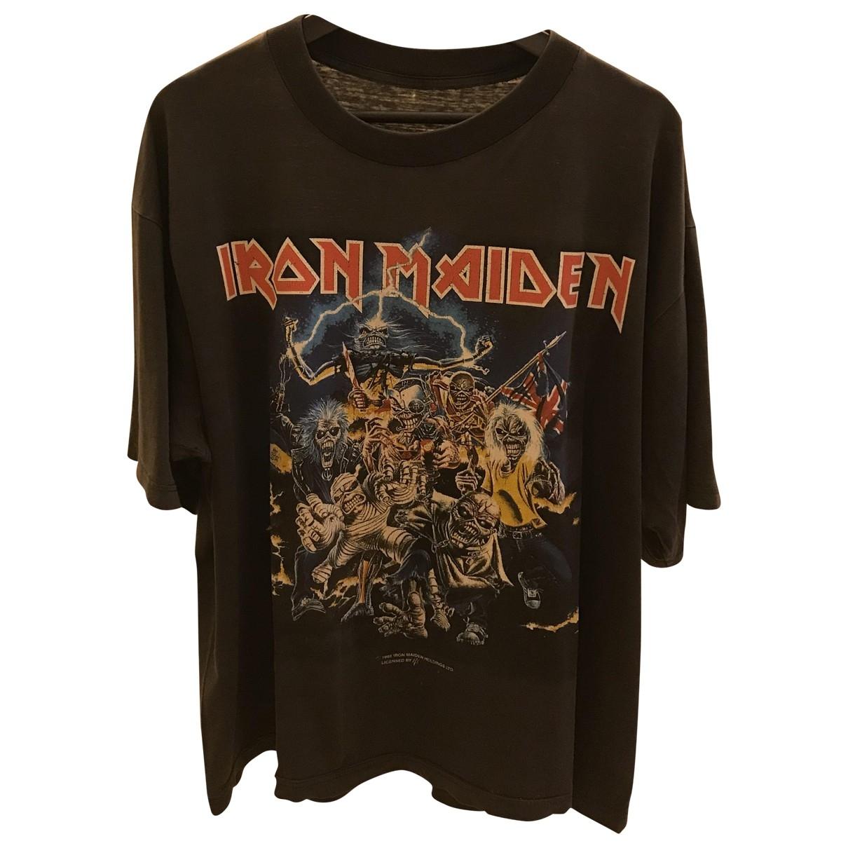 American Vintage \N Black Cotton T-shirts for Men L International