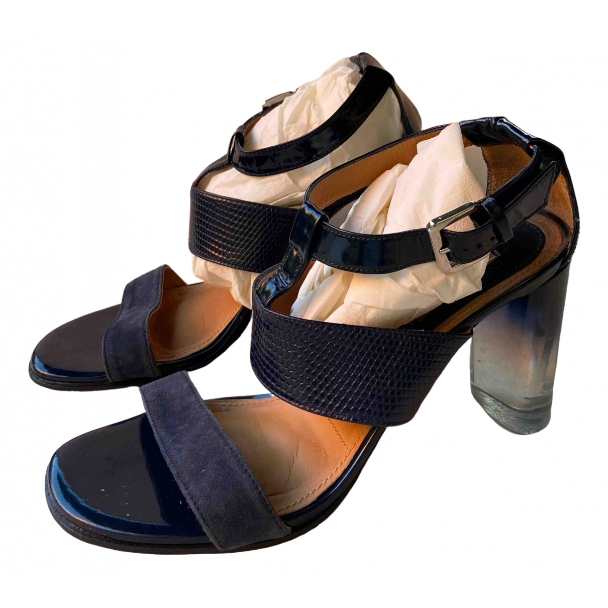 Uterque \N Blue Leather Heels for Women 41 EU